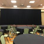 Black Velour 16 foot pipe and drape fpr stage conference