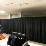 Pipe and Drape makes a room divider for Macy's Department Store