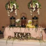 Rustic lantern beverage stations for rent